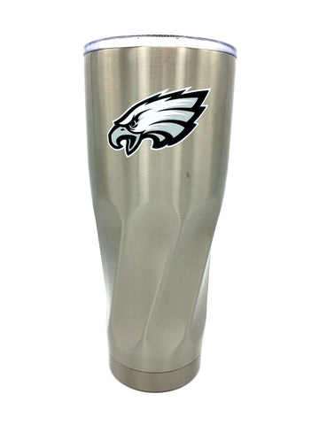 PHILADELPHIA EAGLES Double Wall Stainless Steel Twist Design Tumbler, 30oz