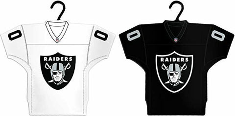 LAS VEGAS (OAKLAND) RAIDERS Home & Away Jersey Christmas Ornament 2-Pack