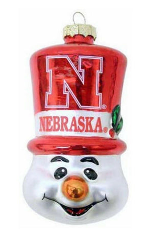 NEBRASKA CORNHUSKERS NCAA Top Hat Snowman Christmas Ornament