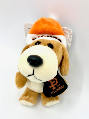 SAN FRANCISCO GIANTS MLB 4-Inch Plush Dog Christmas Ornament