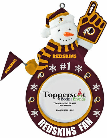 WASHINGTON REDSKINS NFL Snowman Photo Frame Christmas Ornament