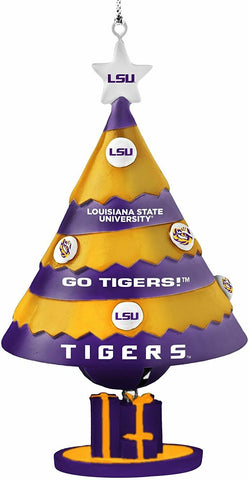 LSU TIGERS NCAA Tree Bell Ornament