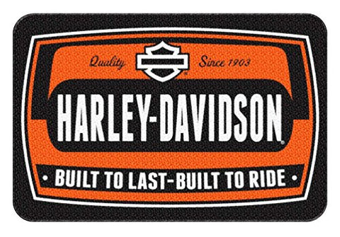 HARLEY-DAVIDSON Bike Tag Low Pile Round Edge Rug, 20 x 30 Inches NEW