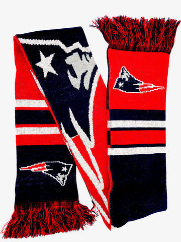 NEW ENGLAND PATRIOTS NFL Big Logo Double Sided Acrylic Scarf