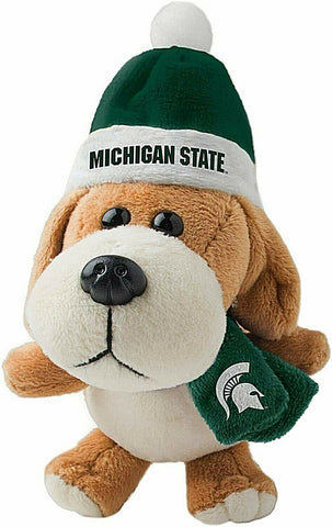 MICHIGAN STATE SPARTANS NCAA 4 inch Plush Dog Christmas Ornament