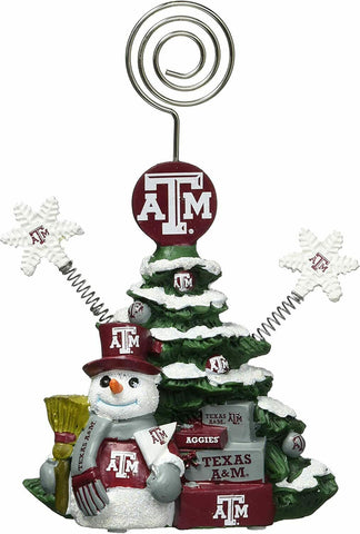 TEXAS A&M AGGIES NCAA Christmas Tree Photo Holder with Snowman