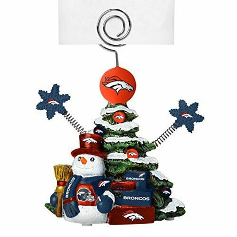 DENVER BRONCOS NFL Christmas Tree Photo Holder with Snowman
