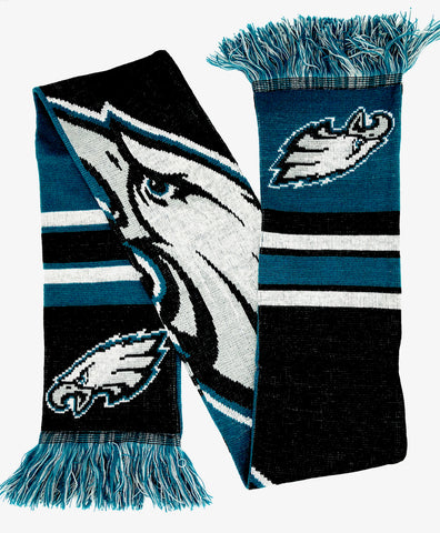 PHILADELPHIA EAGLES NFL Big Logo Double Sided Acrylic Scarf