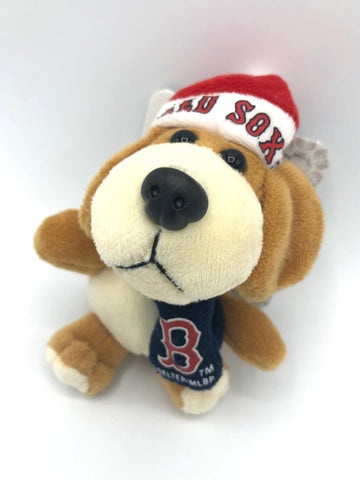 BOSTON RED SOX MLB 4-Inch Plush Dog Christmas Ornament