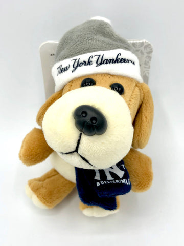NEW YORK YANKEES MLB 4-Inch Plush Dog Christmas Ornament