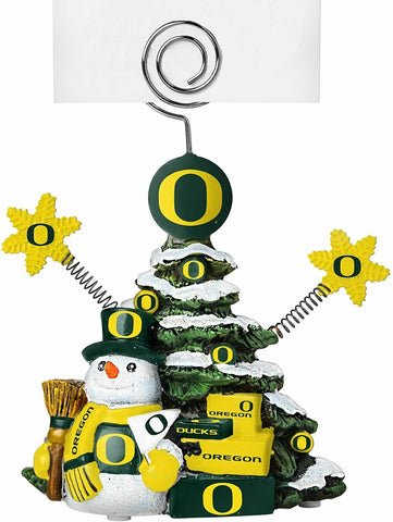 OREGON DUCKS NCAA Christmas Tree Photo Holder with Snowman