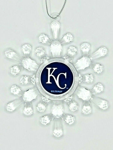 KANSAS CITY ROYALS MLB Traditional Acrylic Snowflake Christmas Ornament