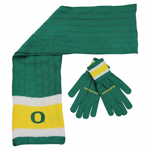 OREGON DUCKS NCAA Knit Scarf & Gloves Set