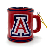 ARIZONA WILDCATS NCAA Ceramic Mini Mug Christmas Ornament