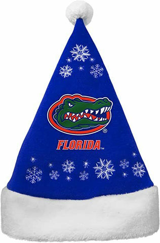 FLORIDA GATORS NCAA Full Embroidered Snowflake Christmas Santa Hat