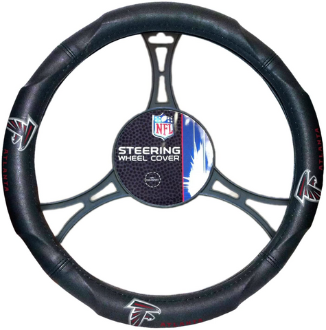 ATLANTA FALCONS NFL Synthetic Leather Steering Wheel Cover