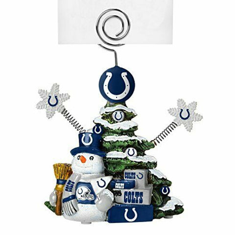 INDIANAPOLIS COLTS NFL Christmas Tree Photo Holder with Snowman