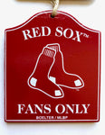"BOSTON RED SOX MLB Wooden ""Fans Only"" Sign Christmas Ornament"