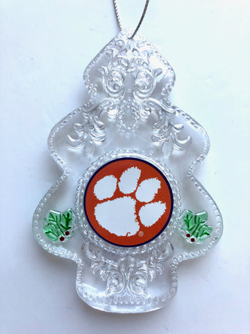CLEMSON TIGERS NCAA Acrylic Christmas Tree Ornament