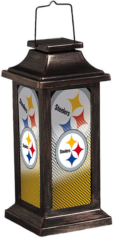 PITTSBURGH STEELERS NFL Solar-Powered Outdoor Safe Hanging Garden Lantern
