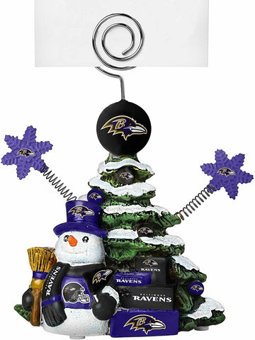 BALTIMORE RAVENS NFL Christmas Tree Photo Holder with Snowman