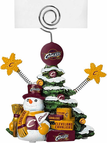 CLEVELAND CAVALIERS NBA Christmas Tree Photo Holder with Snowman