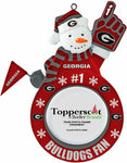 GEORGIA BULLDOGS NCAA Snowman Photo Frame Christmas Ornament