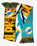 MIAMI DOLPHINS NFL Big Logo Double Sided Scarf