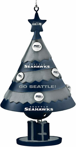 SEATTLE SEAHAWKS NFL Tree Bell Christmas Ornament
