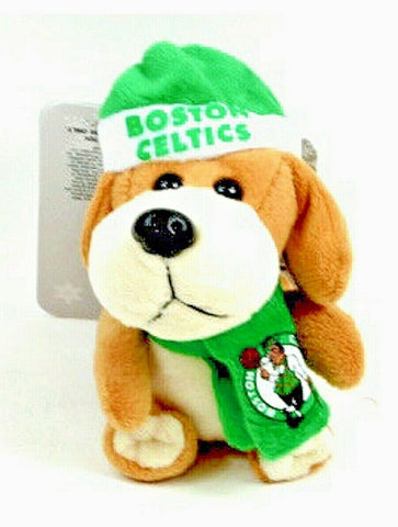 BOSTON CELTICS NBA 4 inch Plush Dog Christmas Ornament