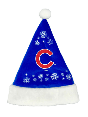 CHICAGO CUBS MLB Full Embroidered Snowflake Christmas Santa Hat