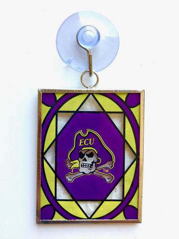 EAST CAROLINA PIRATES NCAA Stained Glass Christmas Ornament & Suncatcher