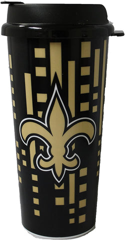 NEW ORLEANS SAINTS NFL Insulated Acrylic Travel Tumbler, 16oz