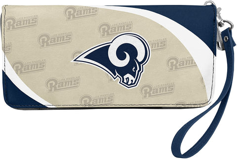 LOS ANGELES RAMS NFL Women's Synthetic Leather Curve-Zip Organizer Wallet