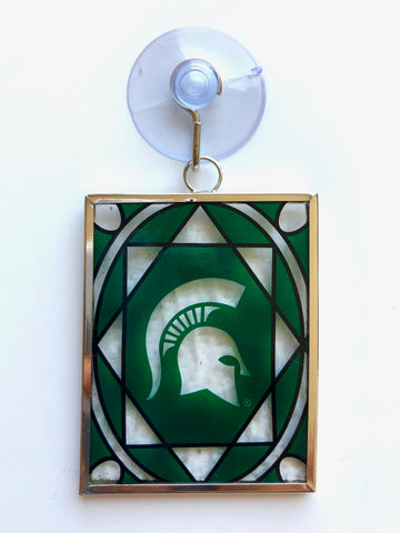 MICHIGAN STATE SPARTANS NCAA Stained Glass Christmas Ornament & Suncatcher