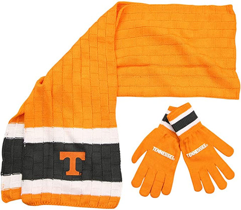 TENNESSEE VOLUNTEERS NCAA Knit Scarf & Gloves Set