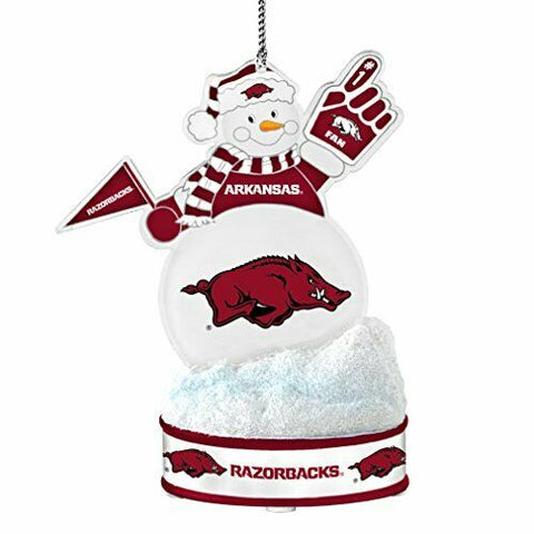 "ARKANSAS RAZORBACKS NCAA LED Snowman Christmas Ornament ""It Lights Up!!!"""