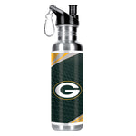 GREEN BAY PACKERS Stainless Steel Water Bottle w/ Metallic Graphics, 26 oz