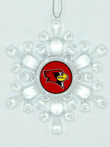 ILLINOIS STATE REDBIRDS NCAA Traditional Acrylic Snowflake Christmas Ornament
