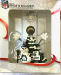 LOS ANGELES (SAN DIEGO) CHARGERS NFL Christmas Tree Photo Holder with Snowman