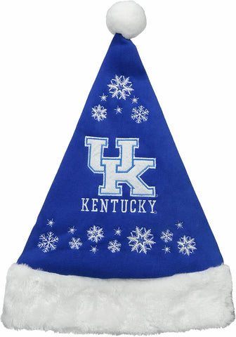 KENTUCKY WILDCATS NCAA Full Embroidered Snowflake Christmas Santa Hat