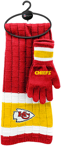 KANSAS CITY CHIEFS NFL Knit Scarf & Gloves Set