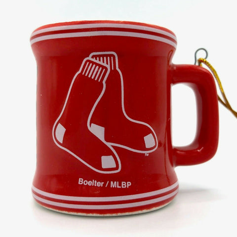 BOSTON RED SOX MLB Ceramic Mini Mug Christmas Ornament