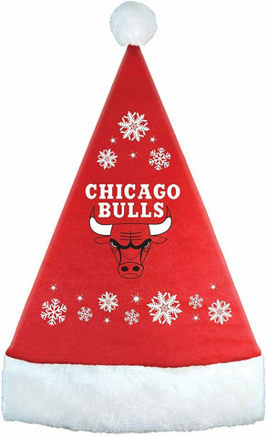 CHICAGO BULLS NBA Full Embroidered Snowflake Santa Hat