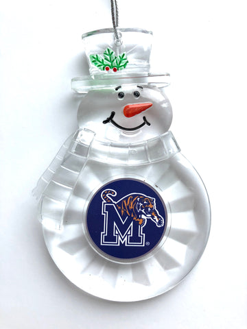 MEMPHIS TIGERS NCAA Traditional Acrylic Snowman Ornament
