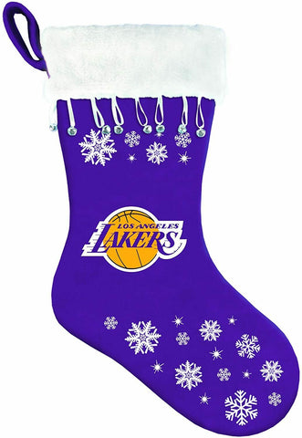 LOS ANGELES LAKERS NBA Snowflake Christmas Santa Stocking