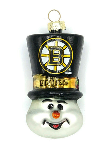 BOSTON BRUINS NHL Top Hat Snowman Christmas Ornament