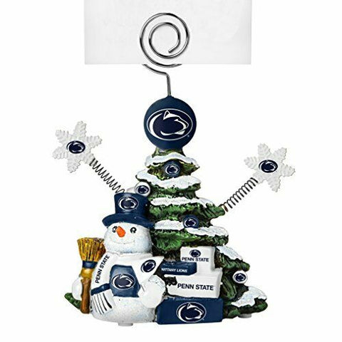 PENN STATE NITTANY LIONS NCAA Christmas Tree Photo Holder with Snowman
