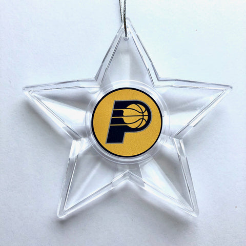 INDIANA PACERS NBA Traditional Acrylic Star Christmas Ornament