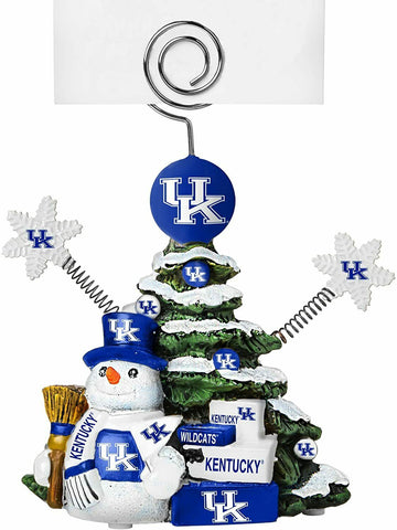 KENTUCKY WILDCATS NCAA Christmas Tree Photo Holder with Snowman